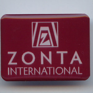 2408 Zonta Badge with Magnetic Back