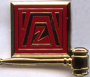 2406 Past President Badge Bottom Gavel 2